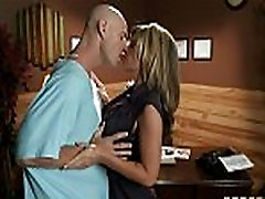 Big-tit brunette doctor uses her patient for a sexy affair dirty talk blow