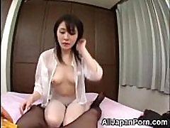 Hairy Asian Teen Sucks Little Dick!