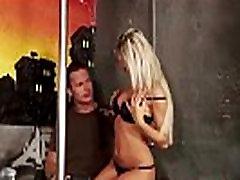 Sexy femdom stripper punishes her customer
