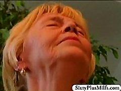Granny Annie enjoys a fine fresh dick