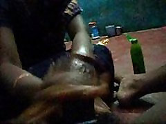 Cock Oil Massage gum shot-fire cutting player hand job-tamil house wife. cock o