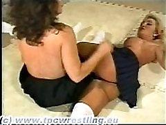 Stocking 7 8teen Danielle vs Kim 2