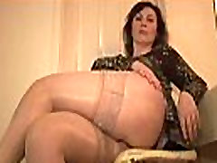 Big tits ganajali sex ida nirina in stockings and satin slip strips and teases