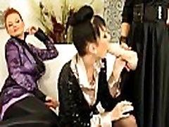Hot bukkake lesbians use strapons