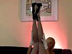 young swingers swimming in pool stockings blonde in heels