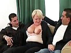 Hot threesome with granny
