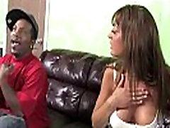 White slut interracial sex