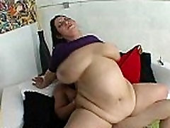 BBW MILF With Glasses Gets Fucked By Young Stud