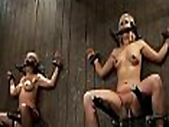 Hot pretty girl dominated in extreme pussy piecing sex