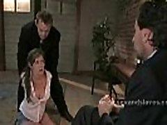 Busty mature salesman girl in bondage extreme sex