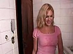 Blonde tranny Alexia sucking big cock and getting fucked