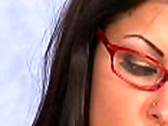 Teen with Glasses fucked and cummed on