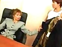 Boy force Asian mature mom to fuck