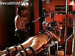 Horny dominatrix with beautiful big tits hits dirty handjob cfnm asian very hard with a stick