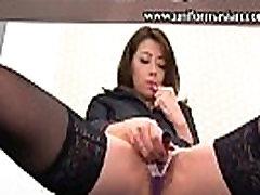 Asian fat fake office woman masturbating sex