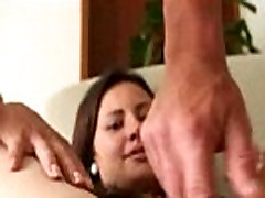Busty latina cummed on after a hardcore fuckin session