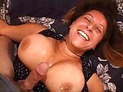 Brunette Titfuck and Facial