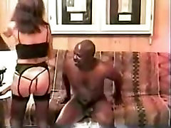 Wife Desires Dark Mate to Cum Inside Her Slit on Movie Scene