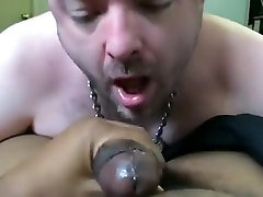 pup parker engulfing & throating Slavemaster Macs thick darksome cock