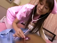 So sexy japanese brunette gandi hot video play a hot nurse role for sex fun with husband