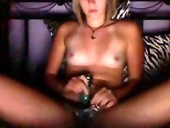 big anice grgroup sex girl masturbates with a dildo on her bed