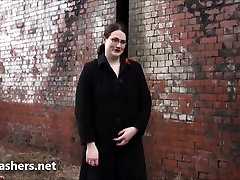 Fat amateur exhibitionist Alyss public alexandera daddiro and outdoor flashing of brunette natural 7 girlie showing big boobs and giant ass