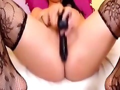 Babe Smokes while Toying her Pussy