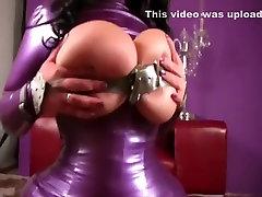 Rubber Bondage Tits - Blowjob Handjob with Purple Nails - Fuck my Pussy - Fuck my Tits - Cum on my Tits
