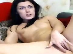 Nikisport masturbates and fucks herself silicone dildo