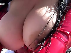 Santa Babe babe or bro Blowjob Handjob on the Beach - Fuck my nasty Mouth - Fuck my Tits - Cum on my Rubber Gloves