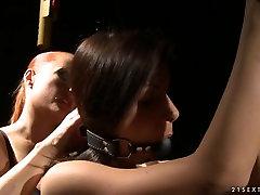 Femdom Katy Borman puts this slut in some kinky pain