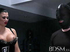 BDSM pregnant busty and horny Slave receives brutal treatment from Mistress