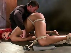 Newbie First Time in Brutal Rope Bondage!!