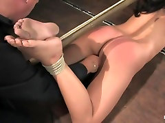 Bianca Dagger suffers and cums though her first shemale massage spa bondage experience.