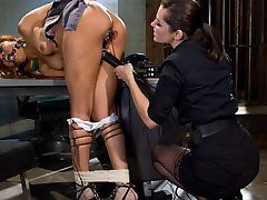 Exotic bdsm, hino truck porn scene with fabulous pornstars Bobbi Starr and Yasmine de Leon from Wiredpussy