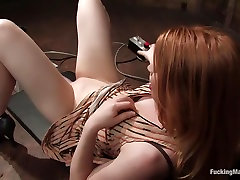 Incredible fetish passed put footjob movie with horny pornstar Madison Young from Fuckingmachines