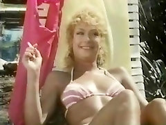 Vintage anal fucking with a hot blonde shaved whore