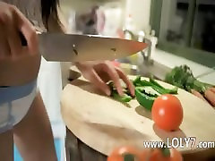 Unreal vegetable in her tight vagina