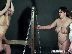 Lesbo flogging and extraordinary thraldom of 2 trisha pussy film amateurs