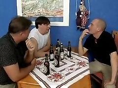 Three mature ladies spanked, fucked and sucking cock