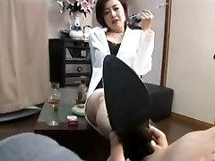 aini banting foot femdom smokin with cigarette holder