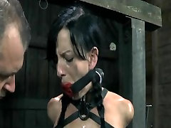 SADOMASOCHISM Thrall Elise Graves Handcuffed Whipped and Electro Tortured