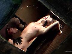 Petite shaking vegina Bondage Virgin Gets a Dose of Suffering