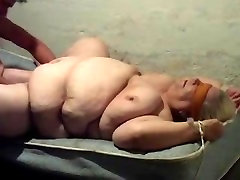 Granny Fucked on a Matress blindfold