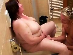Big Beautiful Woman granny receives off in the bath
