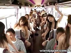 Crazy Azijos merginos vartojate kelionė autobusu