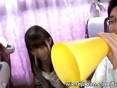 Crazy Azijos merginos turėti karšto kelionė autobusu