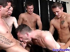 Hardcore gay orgy with Hayden Richards