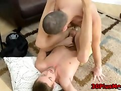 Hairy bear splooges sperm after anal fuck