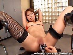 Riri Asian model wants crazy bondage sex